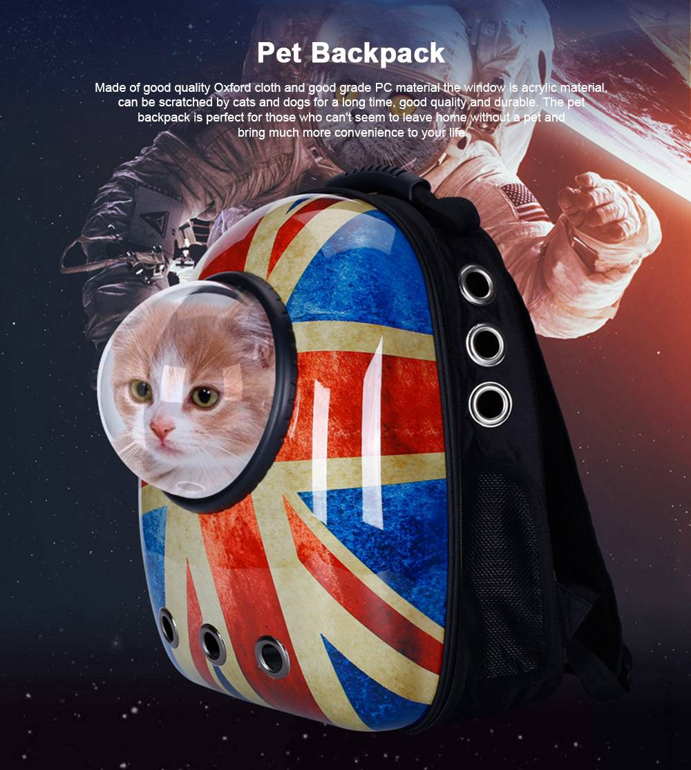 Astronaut Pet Cat Dog Puppy Breathable Oxford Cloth Carrier Travel Bag Space Fashion Capsule Backpack 0