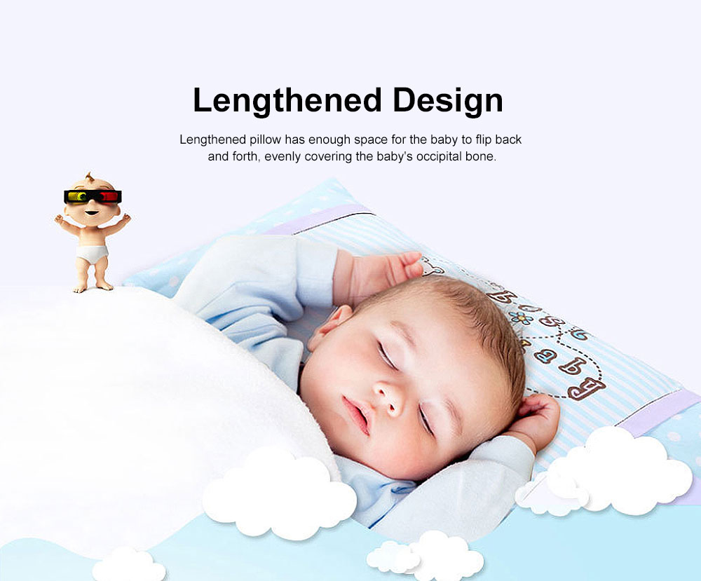 Soft Baby Pillow Anti-Headrest, Comfortable Cotton Pillow for 0-6 Months infant newborn Baby, Candy Cat Pillow 3