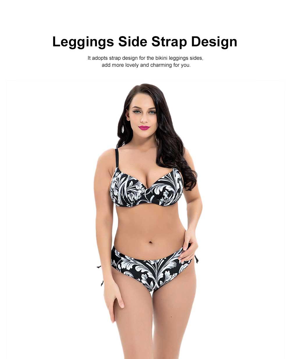 Women's Large Size Sexy Swimming Suits, Two-Piece Plus Size Beachwear, Fashion Printing Bathing Suits 4XL 5XL 6XL 7XL 8XL 1