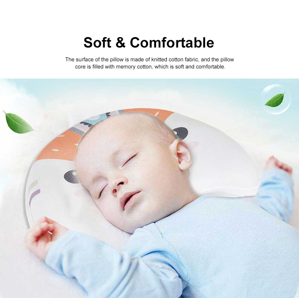 Memory Cotton Infant Pillow Prevent Flat Head Anti Roll Neck Support Breathable Pillow For 0-1 Year Babies Newborn Pillow 1