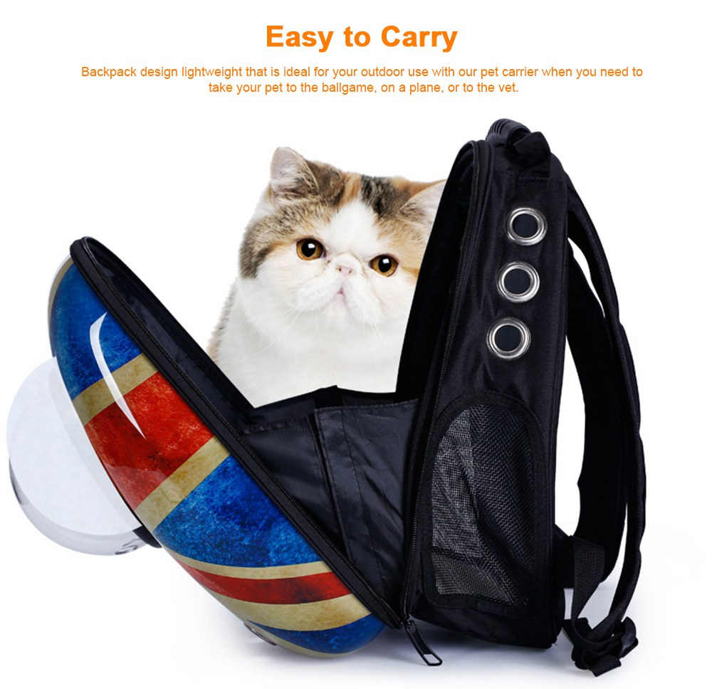 Astronaut Pet Cat Dog Puppy Breathable Oxford Cloth Carrier Travel Bag Space Fashion Capsule Backpack 5
