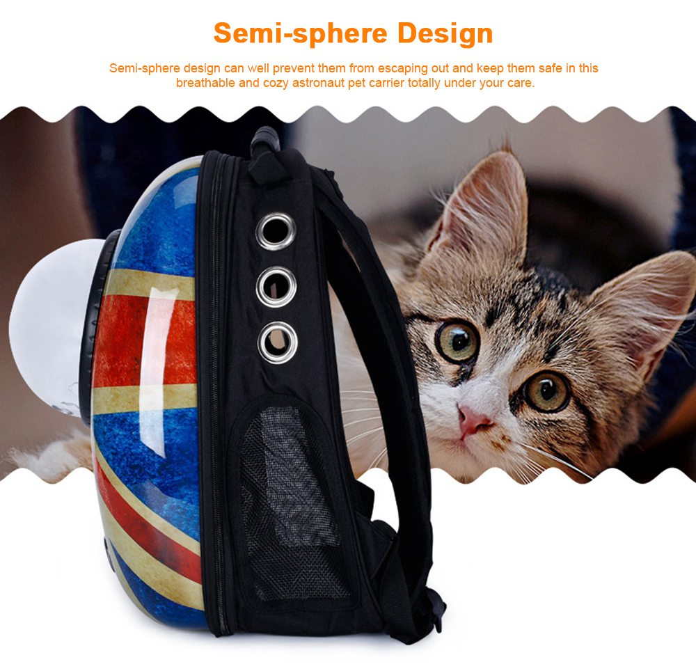 Astronaut Pet Cat Dog Puppy Breathable Oxford Cloth Carrier Travel Bag Space Fashion Capsule Backpack 3