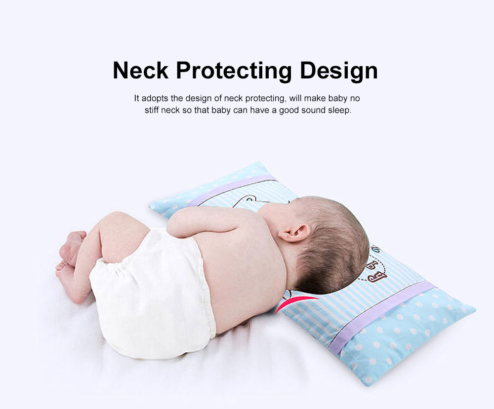 Soft Baby Pillow Anti-Headrest, Comfortable Cotton Pillow for 0-6 Months infant newborn Baby, Candy Cat Pillow 1