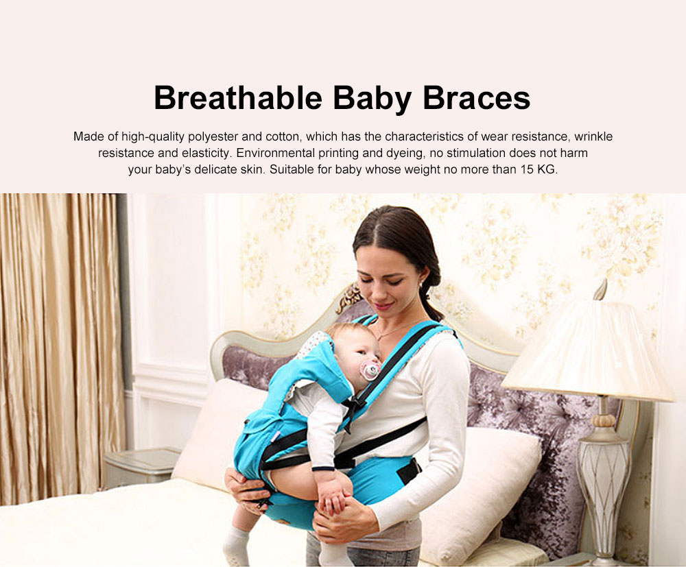 Baby Carrier Backpack Multifunctional 10 Position Anti-slip Buckle Sunshade Baby Waist Stool For Infant Newborn 0