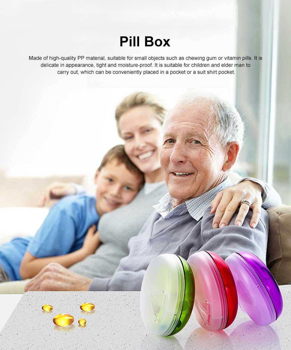 Three-Layer Folding Pill Box Weekly Medicine Case Mini Fashion Chewing Gum Box 0