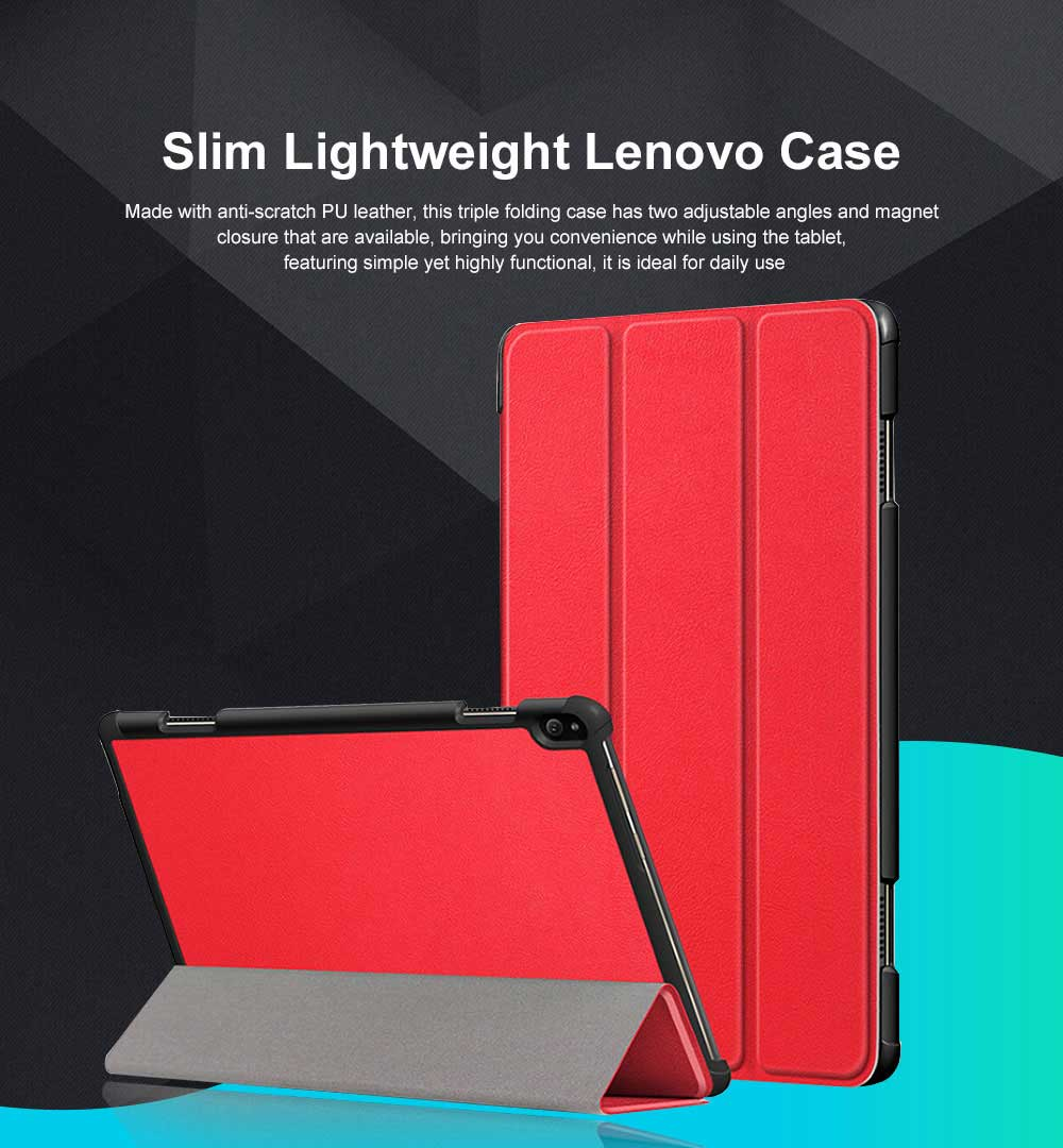 Protective Tablet Case For Lenovo Tab P10 Case Slim Smart Cover Standing Leather Flip Case for Lenovo Tab P10 9 Colors Option 0