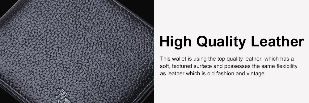 Men's Thin Sleek Casual Bifold Wallet with Credit Card Pockets Compact Cowhide Leather Wallet 3