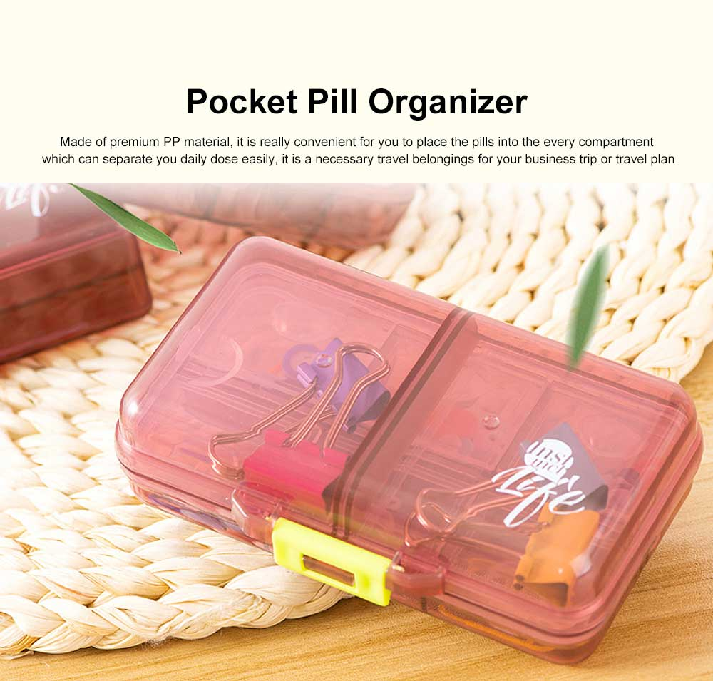 Weekly Pocket Pill Organizer Vitamins Pills Holder Dispenser Travel Planner Business Trip Medication Container 0
