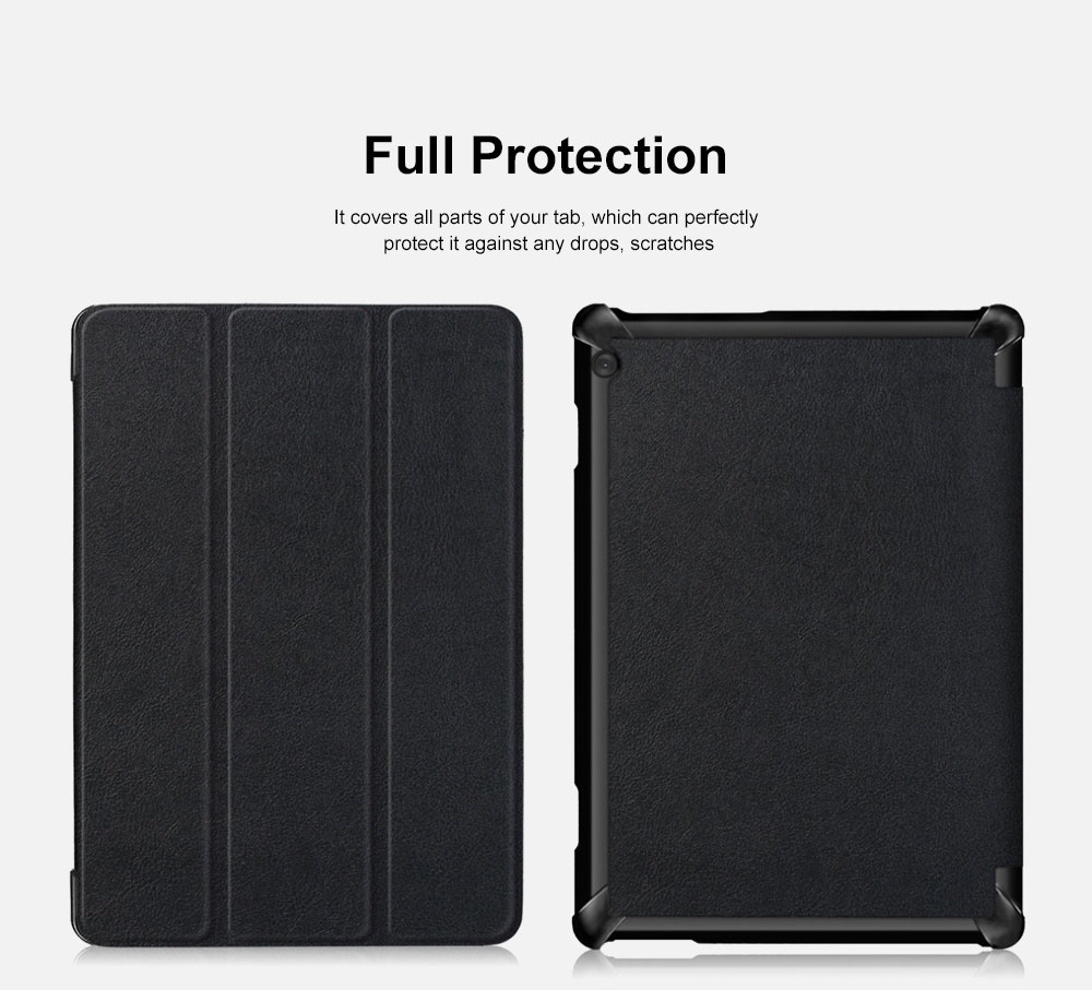 Lenovo Tab P10 Protective Case Standing Case Cover with Multiple Viewing Angles Simple Elegant Style 4