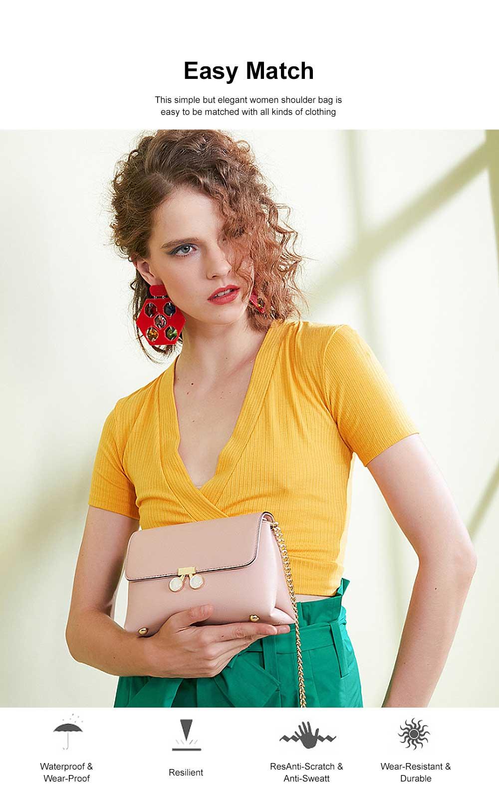 Women Chain Bag Fashion PU Leather Cross-Body Shoulder Bags Ladies Clutch Handbag 1