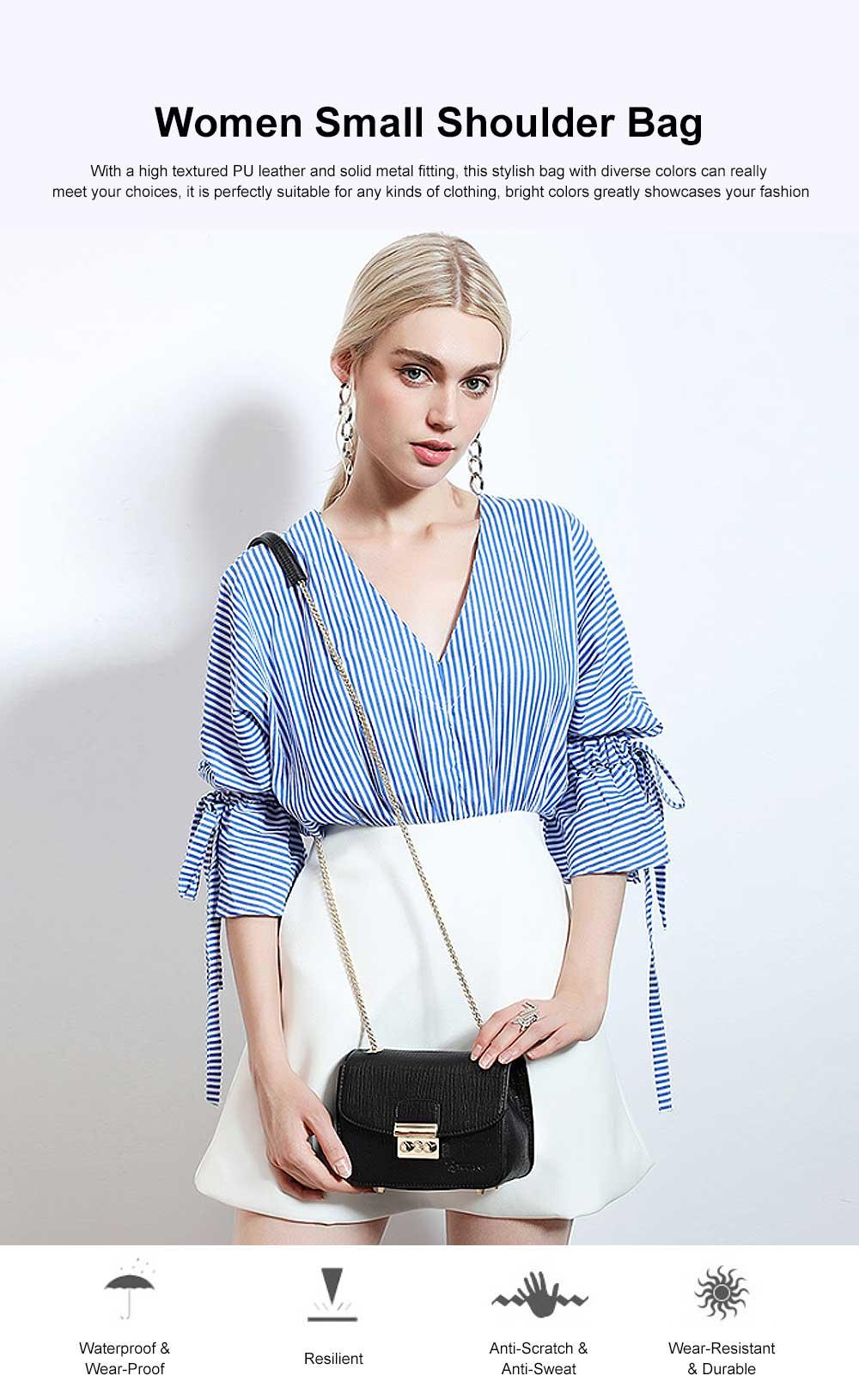 Female Small Cross-shoulder handbags for Women Cross-Body Bag Chain Shoulder Evening Clutch Purse Formal Bag 0