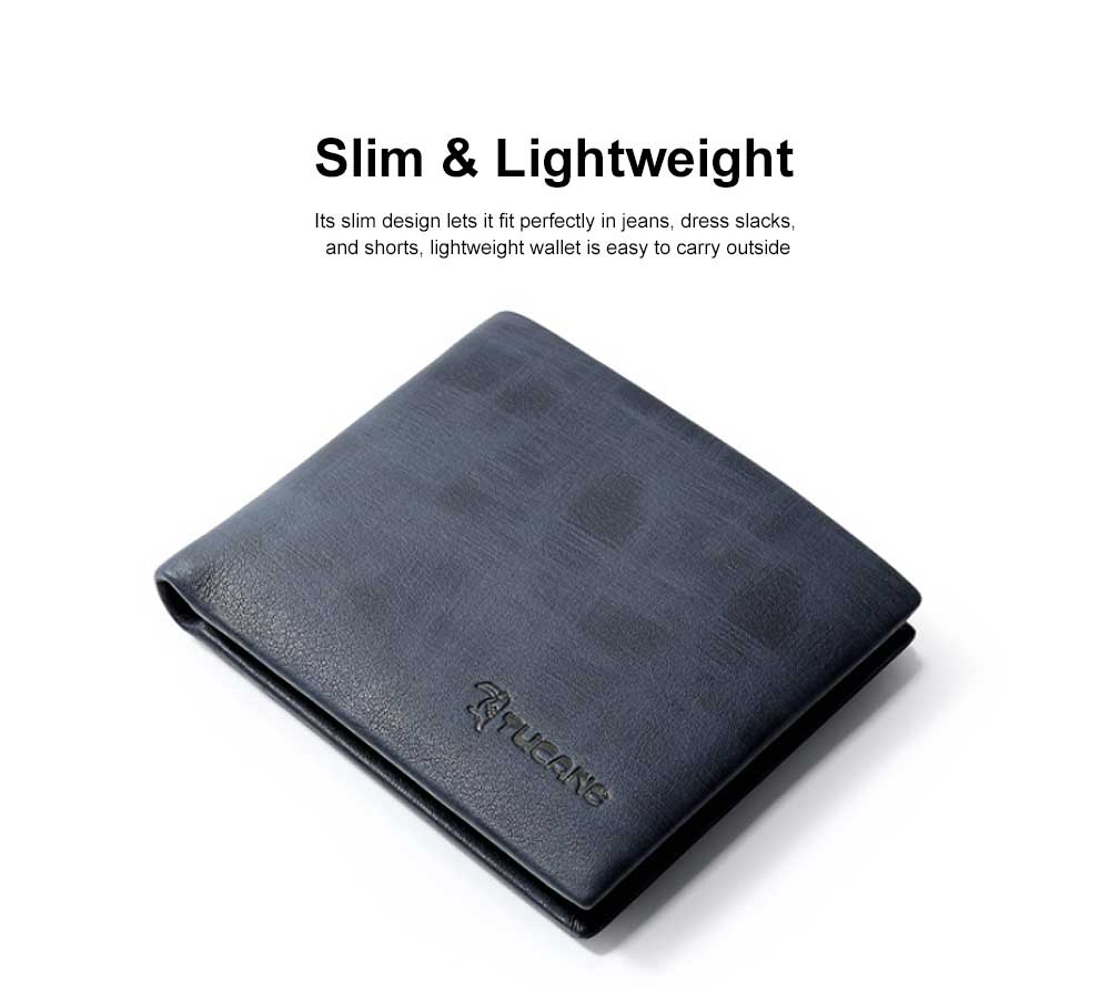 Bifold Extra Capacity Travel Wallet with High Quality Genuine Cowhide Leather for Student Youth Men 2