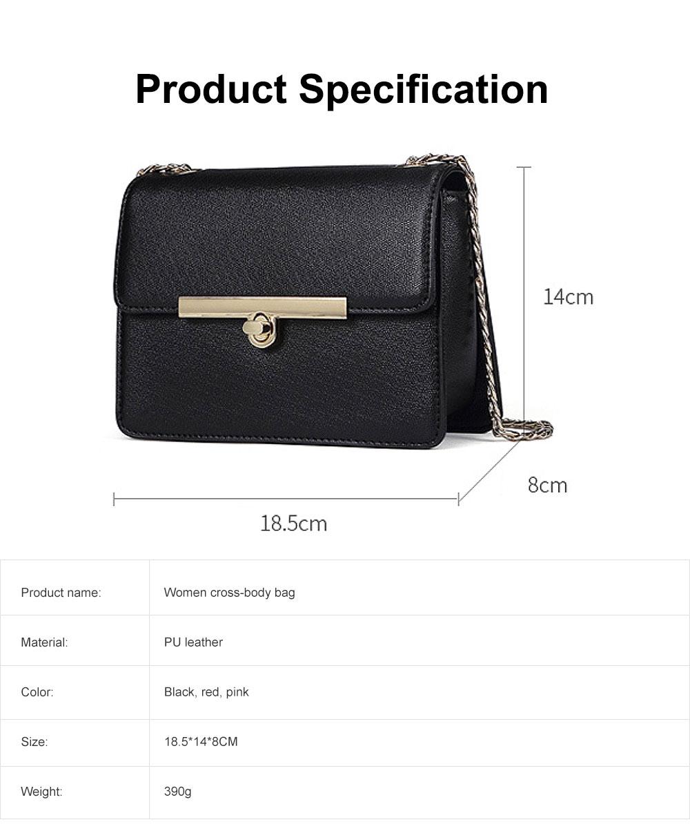 PU Leather Cross-Body Shoulder Clutch Purse Evening Handbag with Chain 6