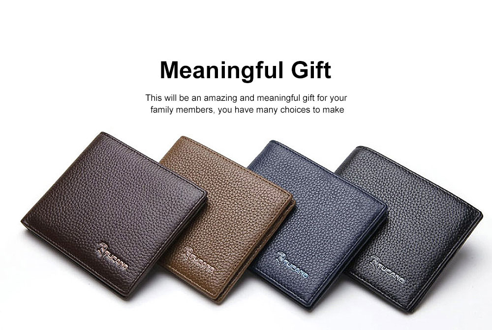 Men's Thin Sleek Casual Bifold Wallet with Credit Card Pockets Compact Cowhide Leather Wallet 2