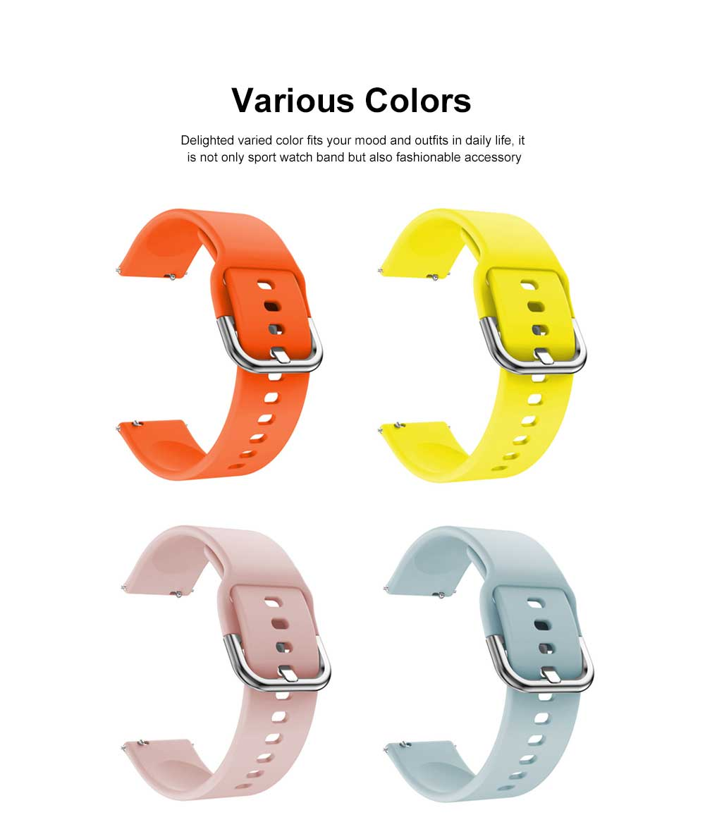 Sport Silicone Replacement Watch Band Compatible with Samsung Galaxy Watch Active Bands 20mm Silicone Wristband 8 Colors 1