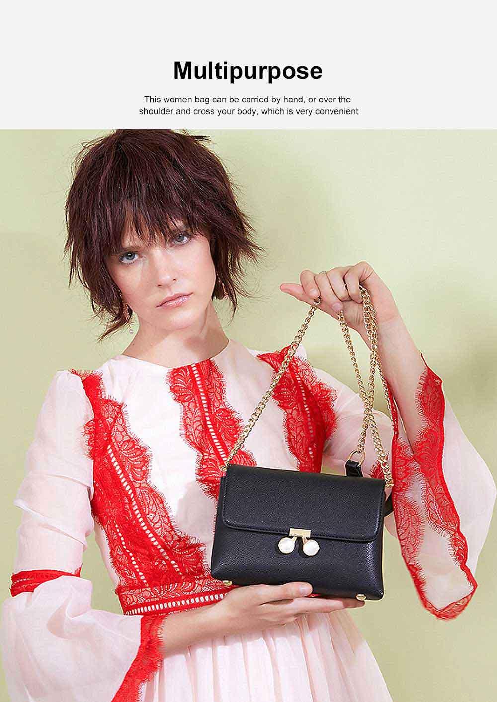 Women Chain Bag Fashion PU Leather Cross-Body Shoulder Bags Ladies Clutch Handbag 2