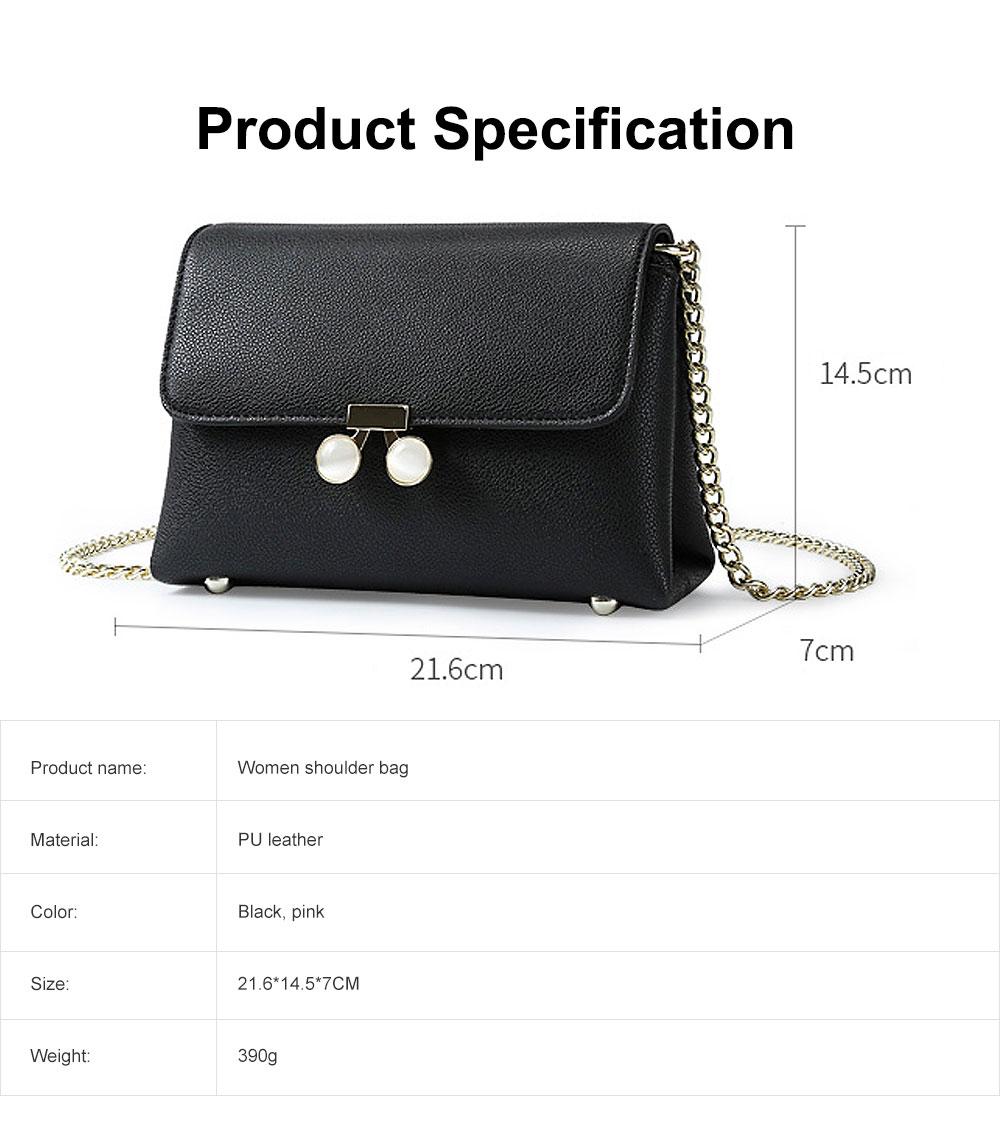 Women Chain Bag Fashion PU Leather Cross-Body Shoulder Bags Ladies Clutch Handbag 6