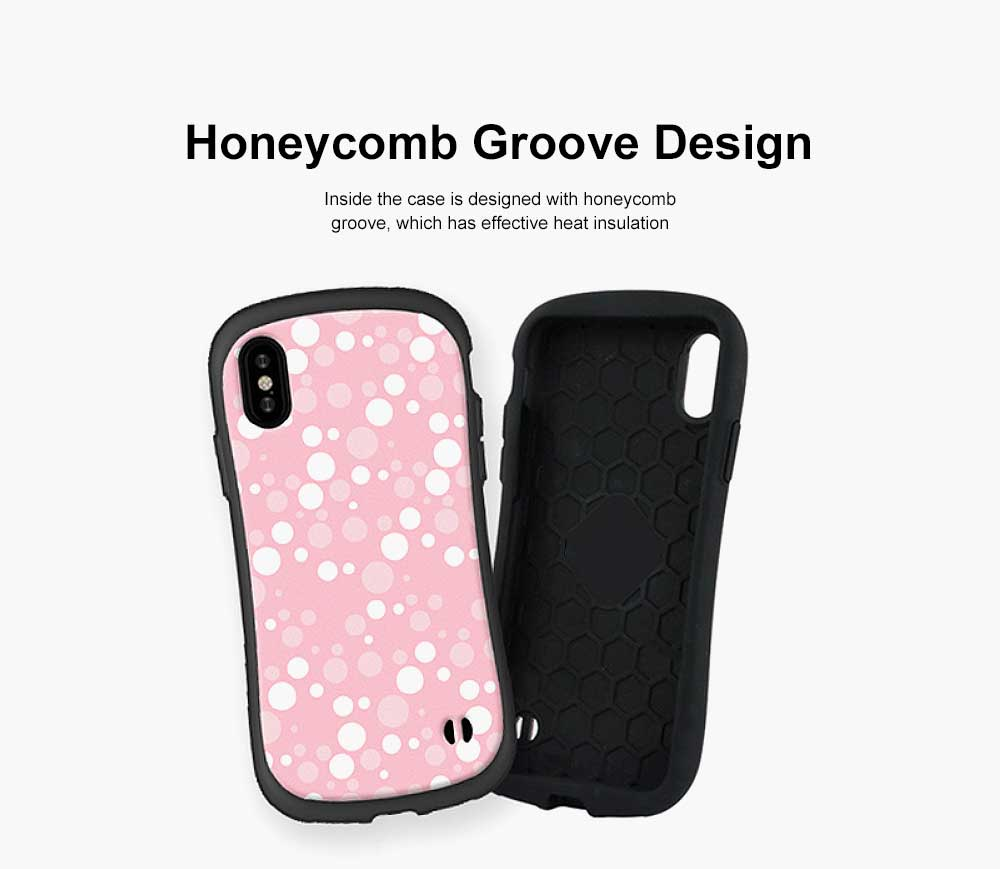 Cute Slim Lightweight iPhone Case with Polka Dot Pattern Shatter-proof Silicone Soft Shell Case for Apple iPhone 6 6S 7 8 6 plus 6s plus 7 plus 8 plus X 5