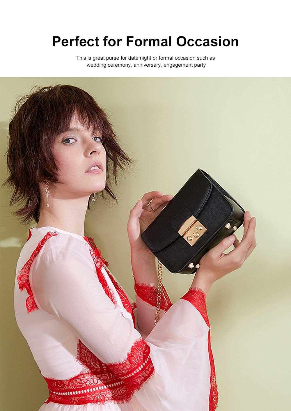 Female Small Cross-shoulder handbags for Women Cross-Body Bag Chain Shoulder Evening Clutch Purse Formal Bag 3