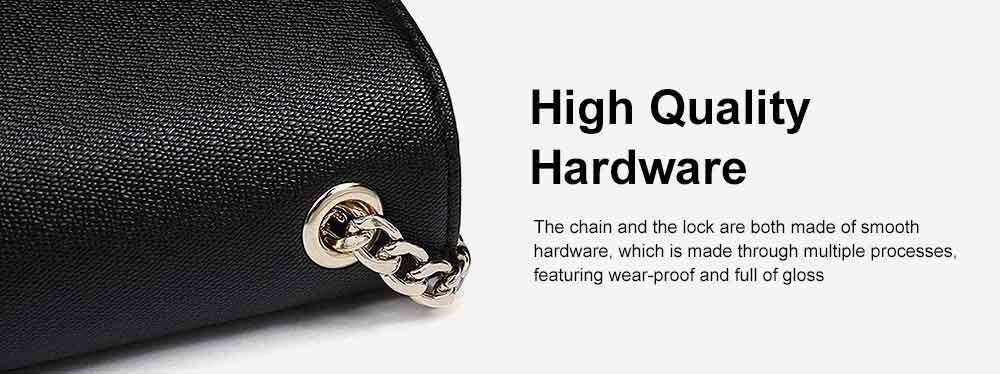 PU Leather Cross-Body Shoulder Clutch Purse Evening Handbag with Chain 5