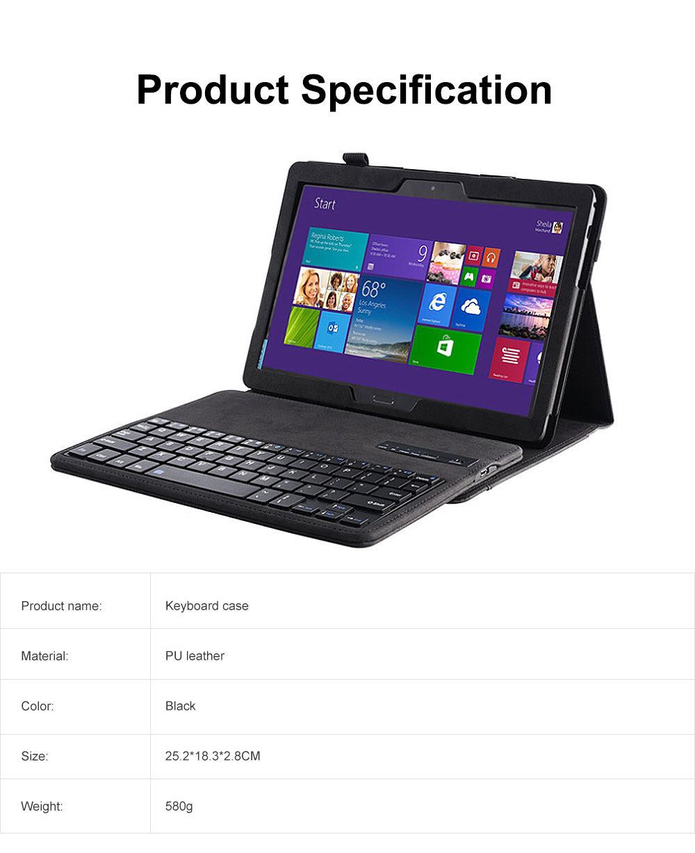Keyboard Case Front Protective Stand Case with Detachable Keyboard for Lenovo Tab P10 TB-X705F M10 6