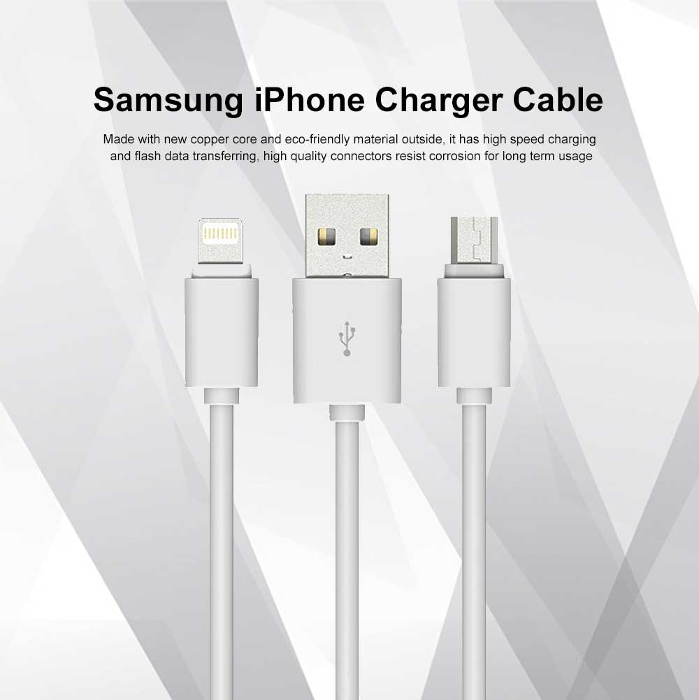 Samsung iPhone Charger Cable Micro USB Cord Fast Charging Data Transfer USB Extremely Durable Cables 0