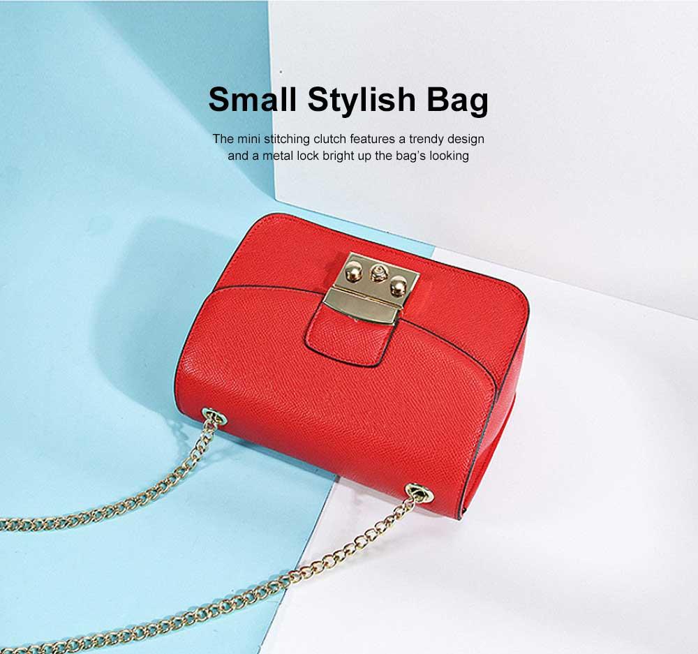 Female Small Cross-shoulder handbags for Women Cross-Body Bag Chain Shoulder Evening Clutch Purse Formal Bag 1