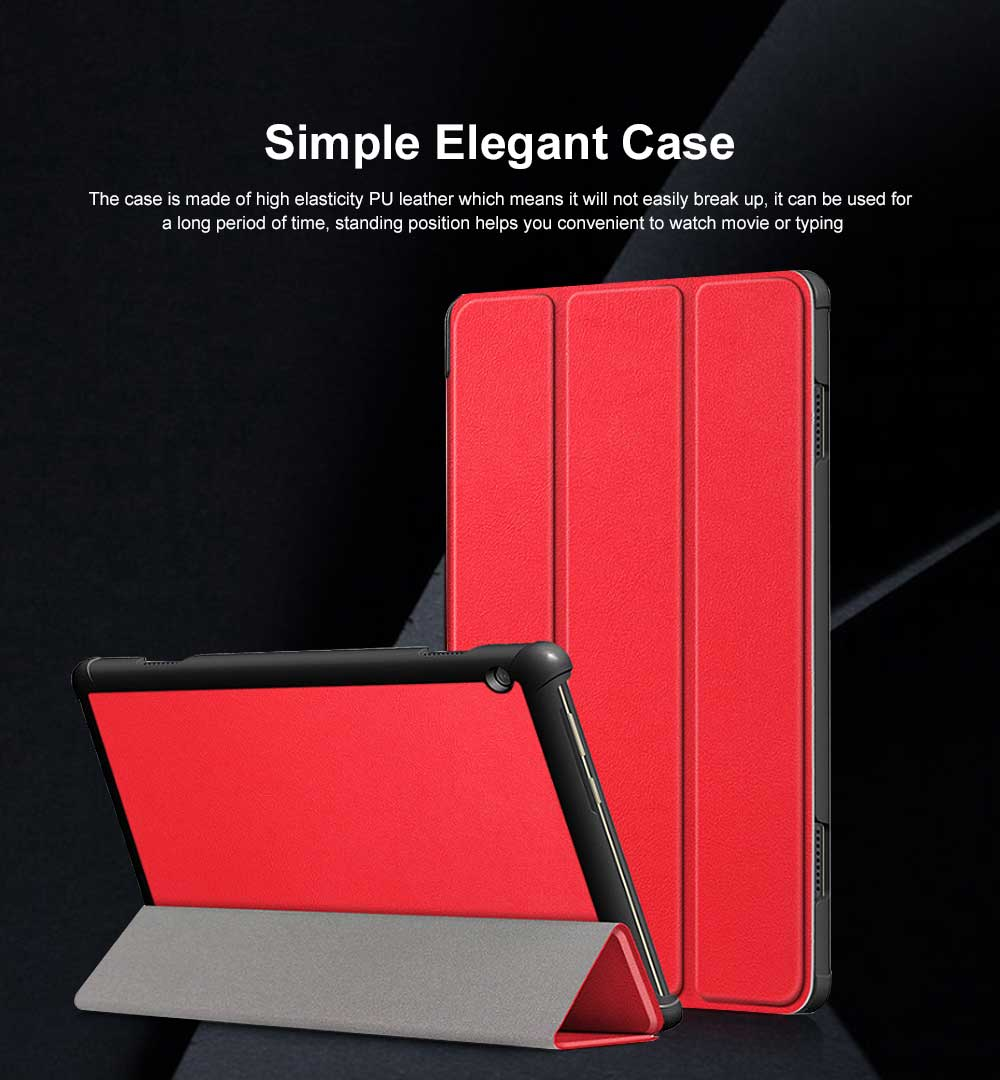 Lenovo Tab P10 Protective Case Standing Case Cover with Multiple Viewing Angles Simple Elegant Style 0