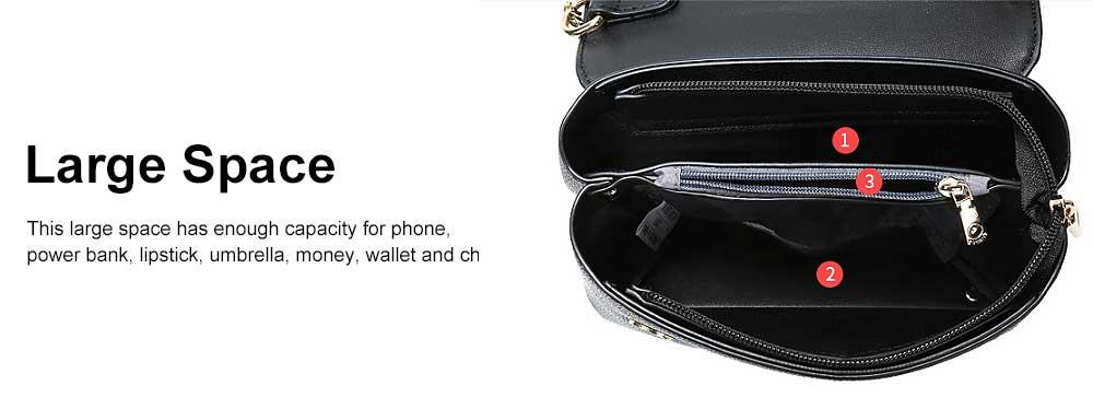 Women Chain Bag Fashion PU Leather Cross-Body Shoulder Bags Ladies Clutch Handbag 4