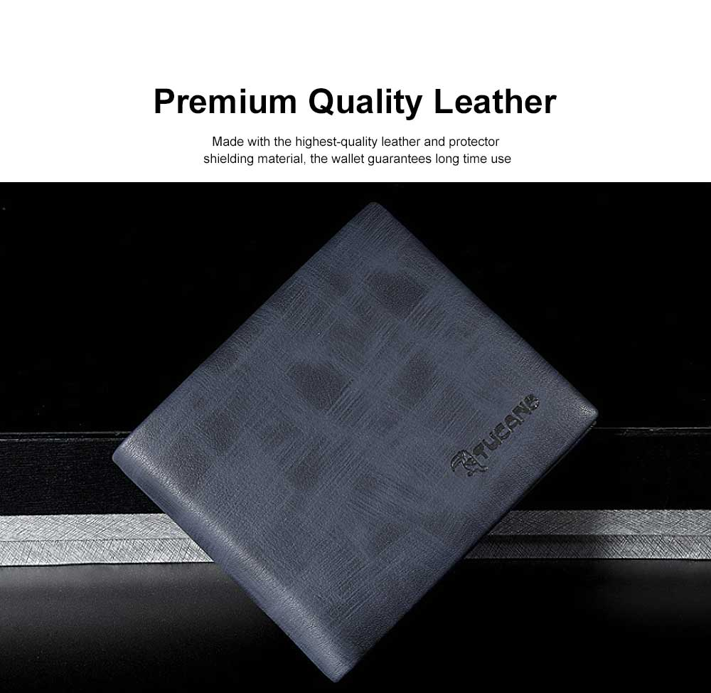 Bifold Extra Capacity Travel Wallet with High Quality Genuine Cowhide Leather for Student Youth Men 1