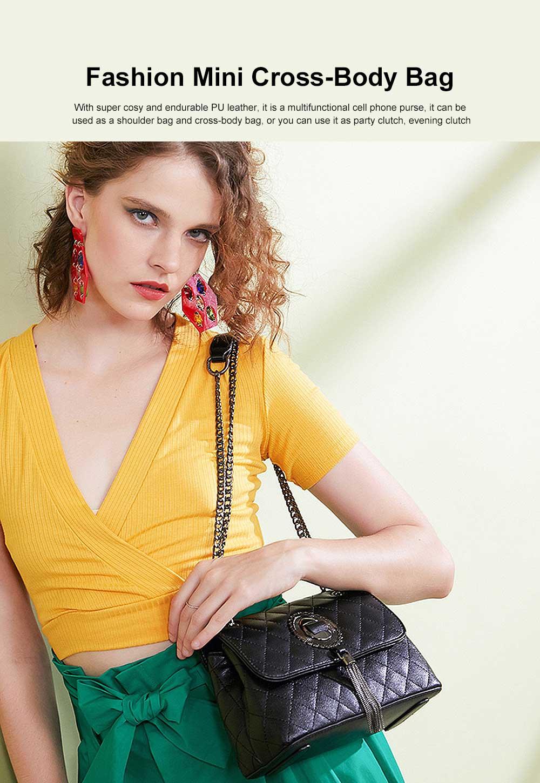 Women Shoulder Bag Fashion Mini Cross-Body Bag Wedding Party Handbag Classic Style for Women Girls 0