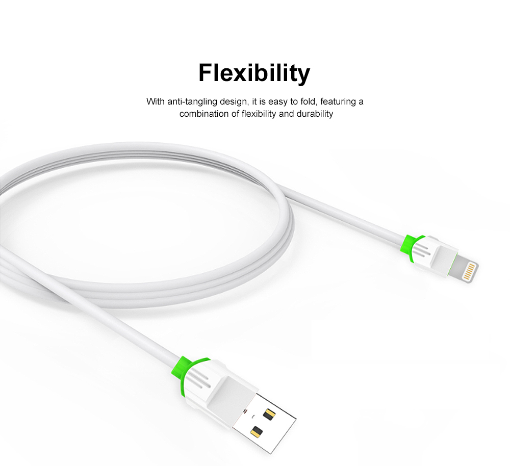 2.1A 1m USB Charging Cable Android iPhone Type C Phone Fast Charger Cord White 3