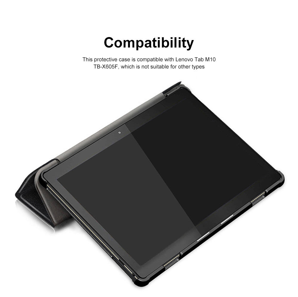 Lenovo Tab P10 Protective Case Standing Case Cover with Multiple Viewing Angles Simple Elegant Style 3