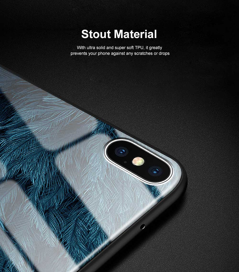 Stylish Protective Phone Case for Samsung Note 8 Note 9 S8 S9 Plus S10 Plus S10E, Silicone Tempered Glass Phone Cover Shatterproof with Unique Pattern 2