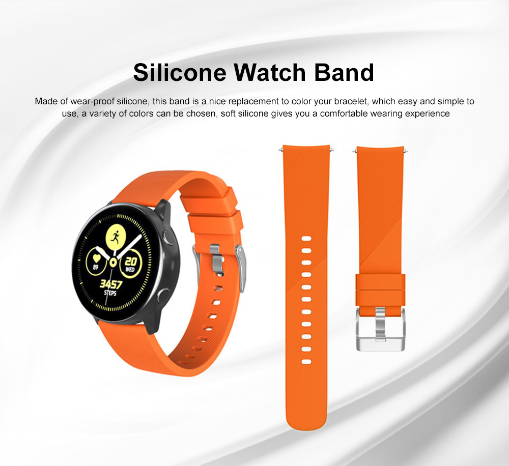 Replacement Band for Galaxy Watch Active Bands, Silicone Replacement Sport Strap Band Compatible for Samsung Galaxy Watch Active 20mm 0