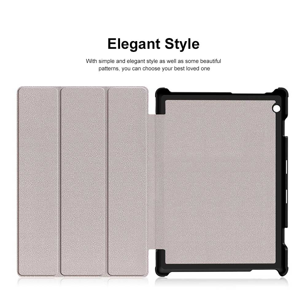 Lenovo Tab P10 Protective Case Standing Case Cover with Multiple Viewing Angles Simple Elegant Style 1