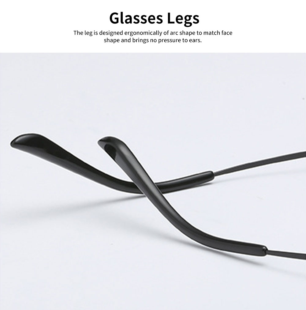 Unisex Retro Style Radiation Protection Glass Frames, Anti-blue Ray Glasses, Plano Lens Glass Frames Computer Round Frame Glasses Shortsighted Goggles 4