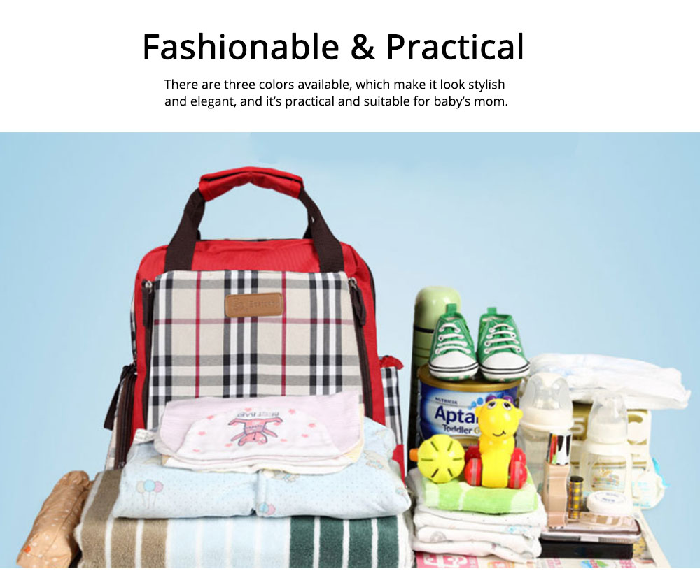 Waterproof Oxford Nylon Shoulder Bag Multiple Functions Cross-bag Large Capacity Suitcase for Mummy Backpack 5