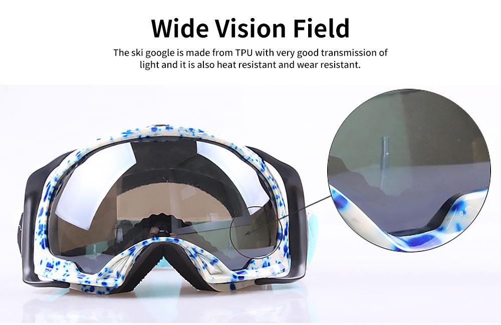 Ski Glasses Double-layer Anti-fog Goggles Anti-snow Glasses Outdoor Sports Goggles Ski Glasses UV400 Radiation Protection Blue 3
