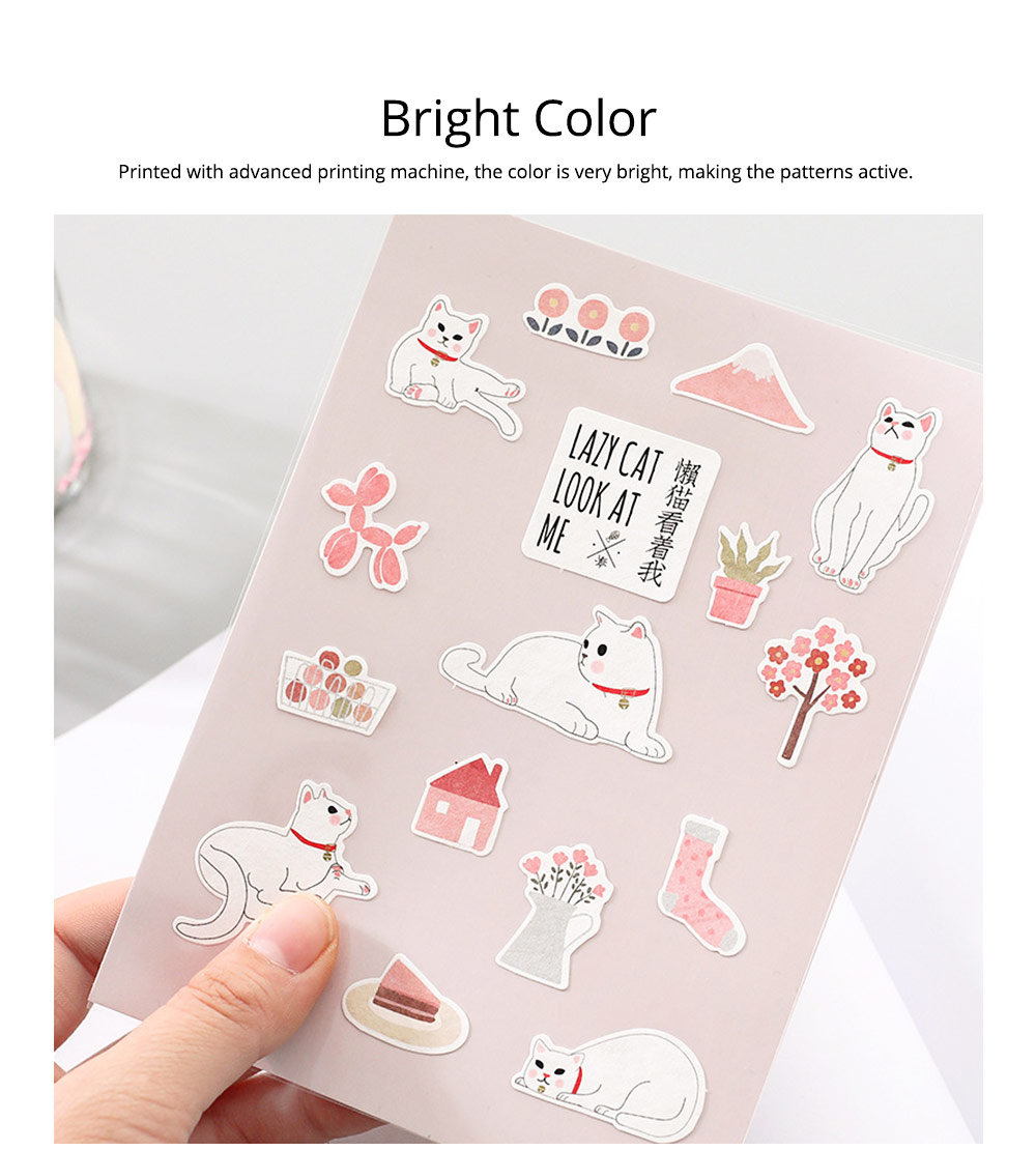 Notebook Decoration Sticker with Cute Different Pattern Bright Active Color Paper Sticker 2
