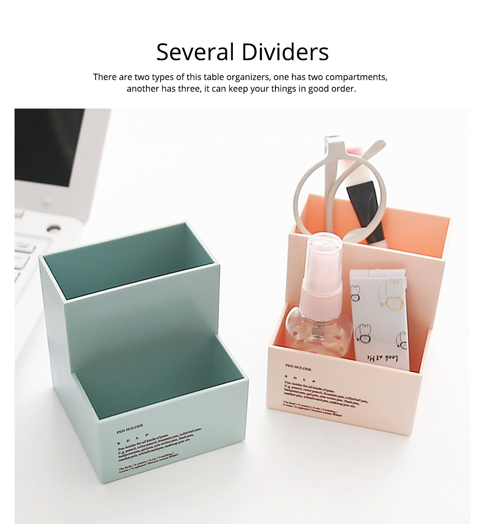 Cute Fashionable Student Pen Holder Table Organizer Storage Box Pencil Holder for Office Home Table 2