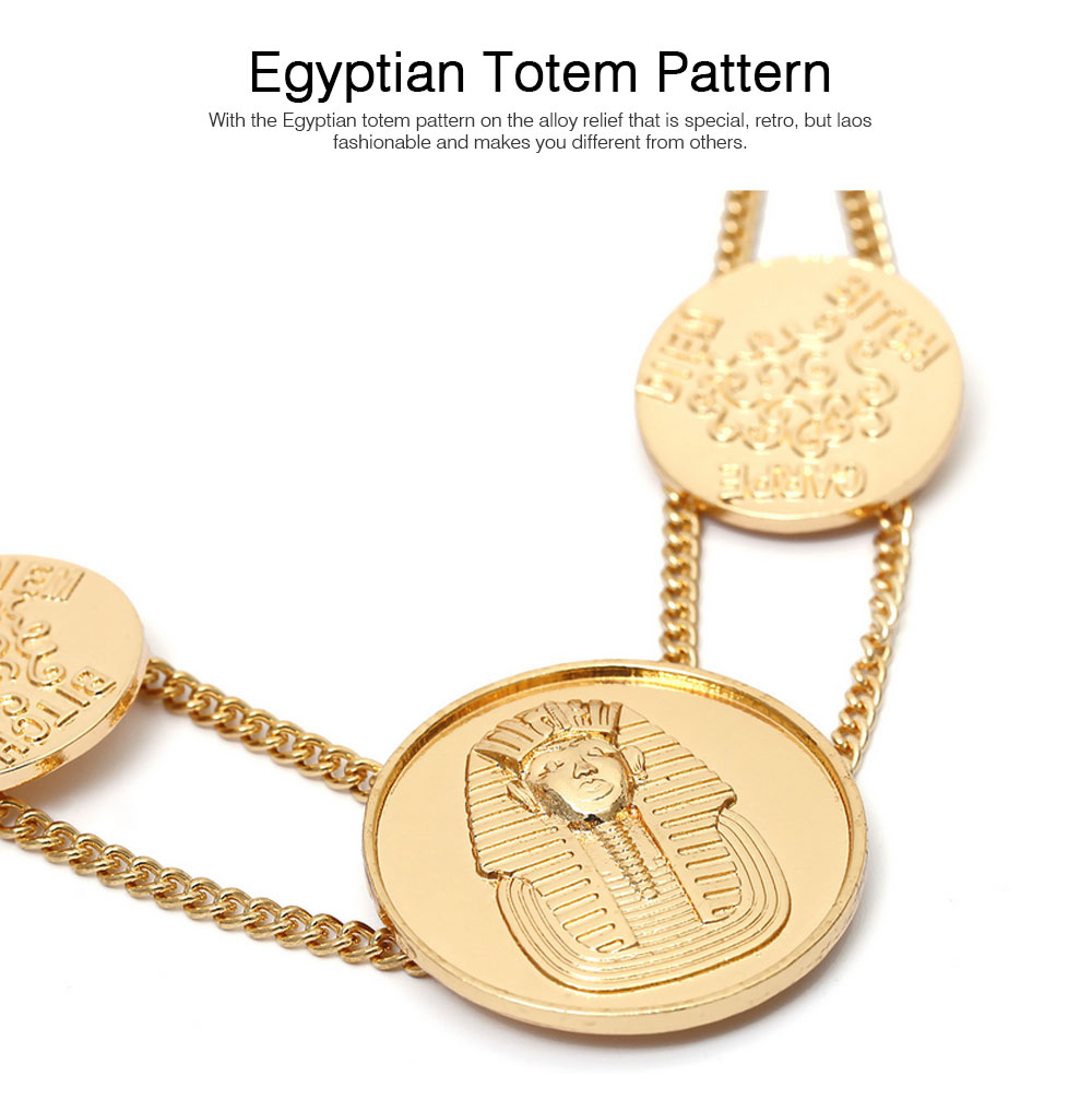 Sweater Chain Necklace with Alloy Egyptian Totem Pattern, Simple Retro Women Necklace for Sweater Accessory 2
