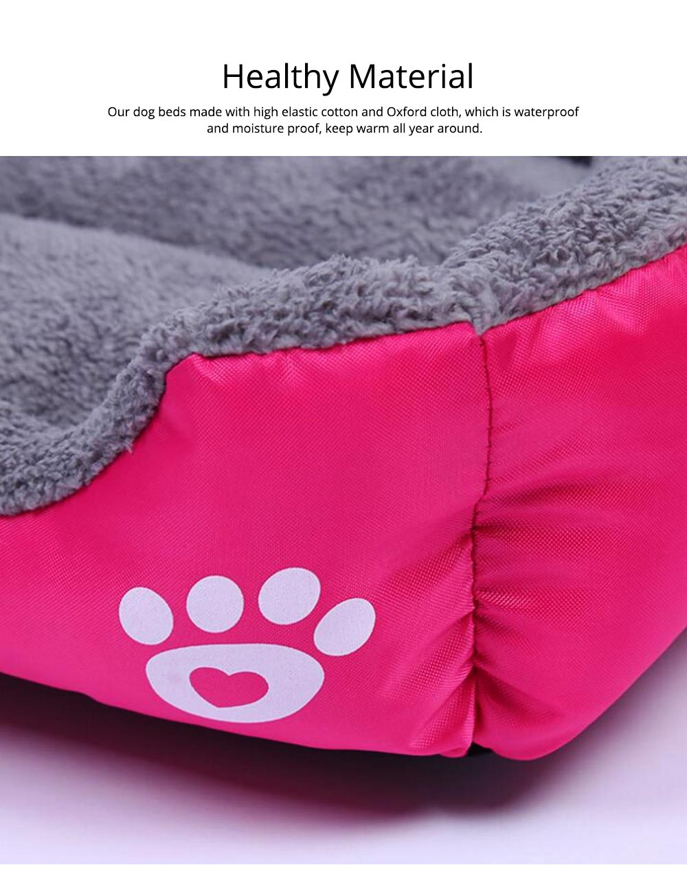 Super Soft Pet Sofa Dog Bed, Non Slip Bottom Pet Lounger, Self Warming and Breathable with Raised Rim Pet House 1