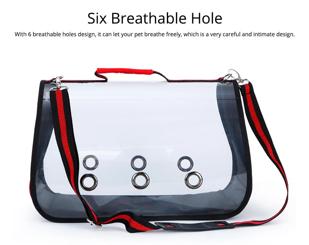 Transparent Pet Carrier Single-shouldered Handheld Cat Bag For Cat Dog for Outdoor Use 4