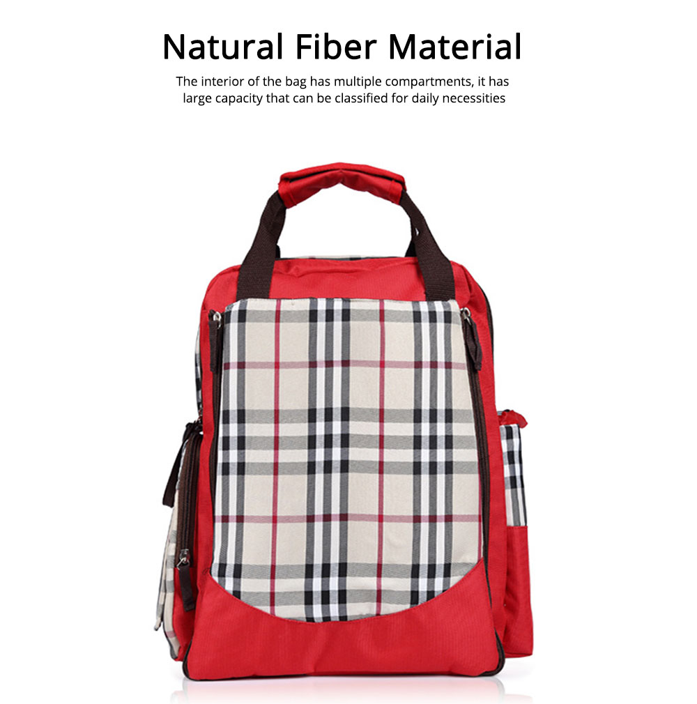 Waterproof Oxford Nylon Shoulder Bag Multiple Functions Cross-bag Large Capacity Suitcase for Mummy Backpack 3