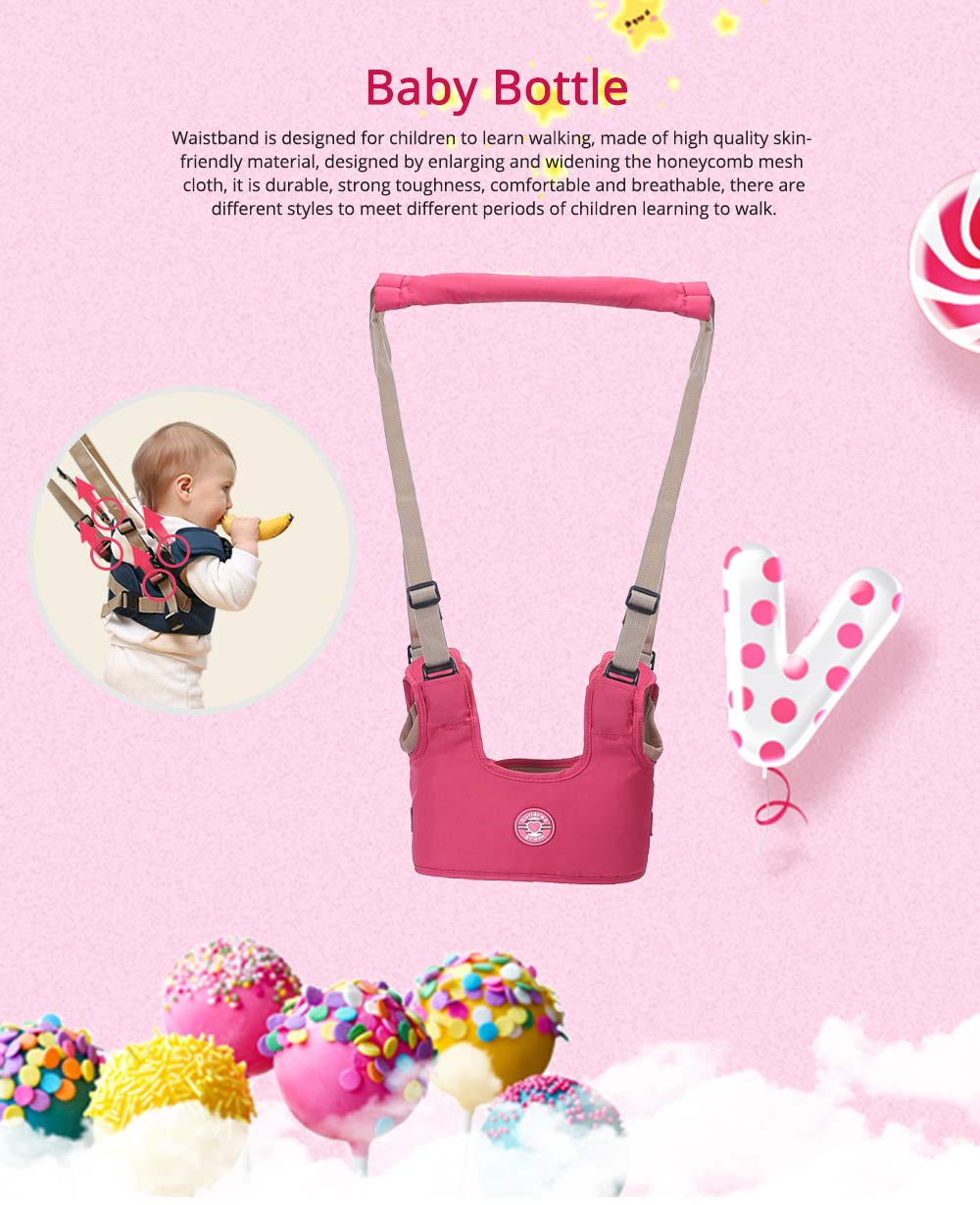 Belt Skin-friendly Material Adjustable Webbing for Baby Learning Walking Breathable Waistcoat Strap 0