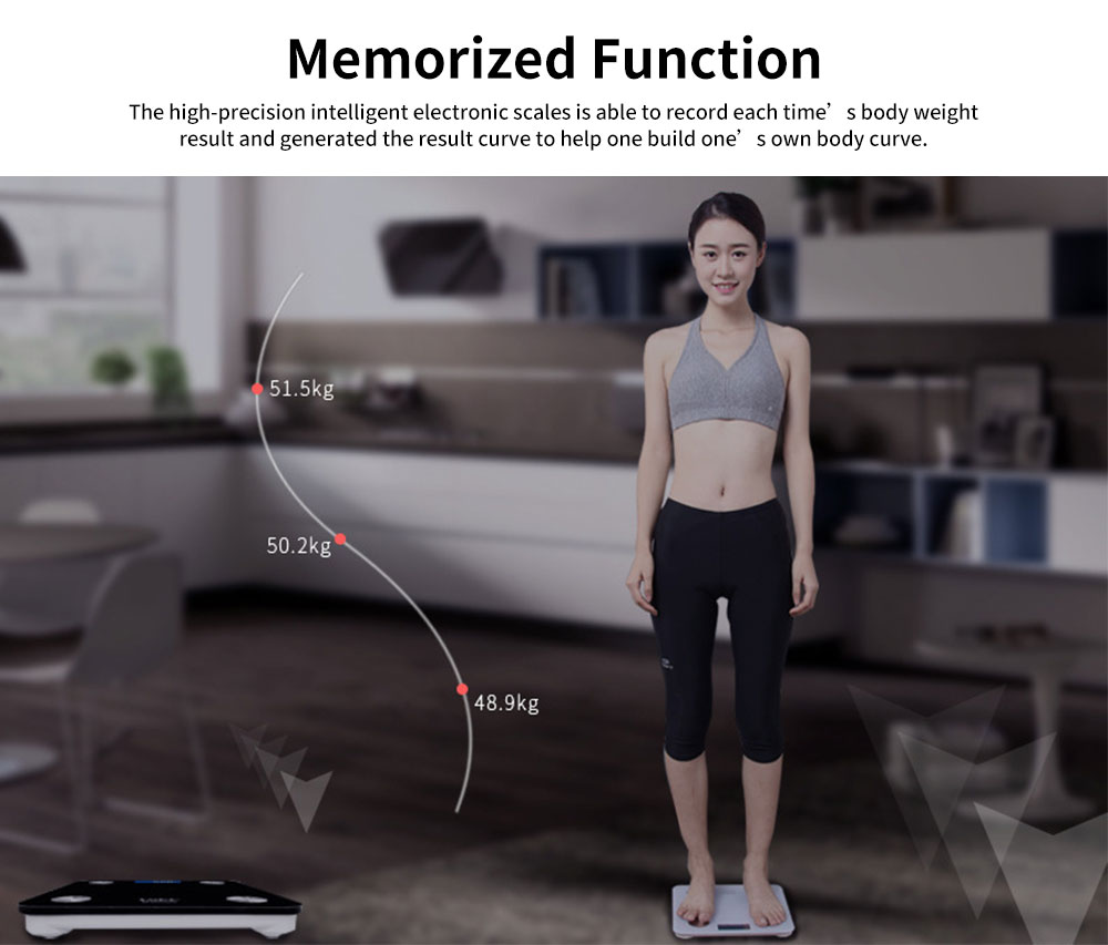 High-precision Intelligent Electronic Scales for Female Body Weight Scale Grams and Ounces Bluetooth Scale Battery Body Fat Calculator Muscle Skeleton Water 5