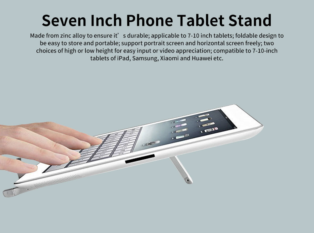 Tablet iPad Phone Metal Stand Portable Desktop A-frame Universal Stand for Tablet iPad Best-selling Easy to Carry Metal Mobile Stand 0