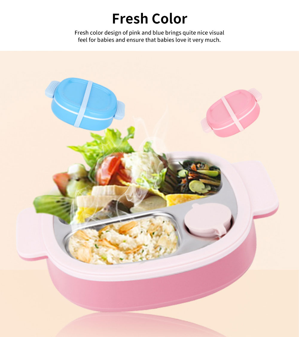 Temperature-lock Meal Box for Babies, Separation Removable Meal Boxes of Complementary Food for Infants Baby Tableware Thermal Lunch Box 5