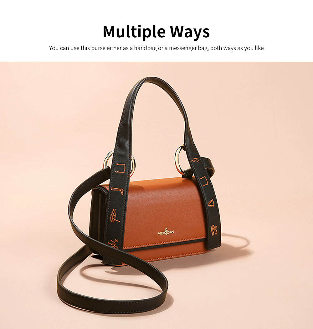 2019 Latest Fashionable Women Purse, PU Magnetic Snap Shoulder Bag, Messenger Bag for Ladies Easy Matching 4